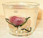 gelová svíčka s twistartovou kytičkou
