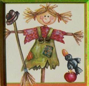 Podzimní obrázek s čarodějkou