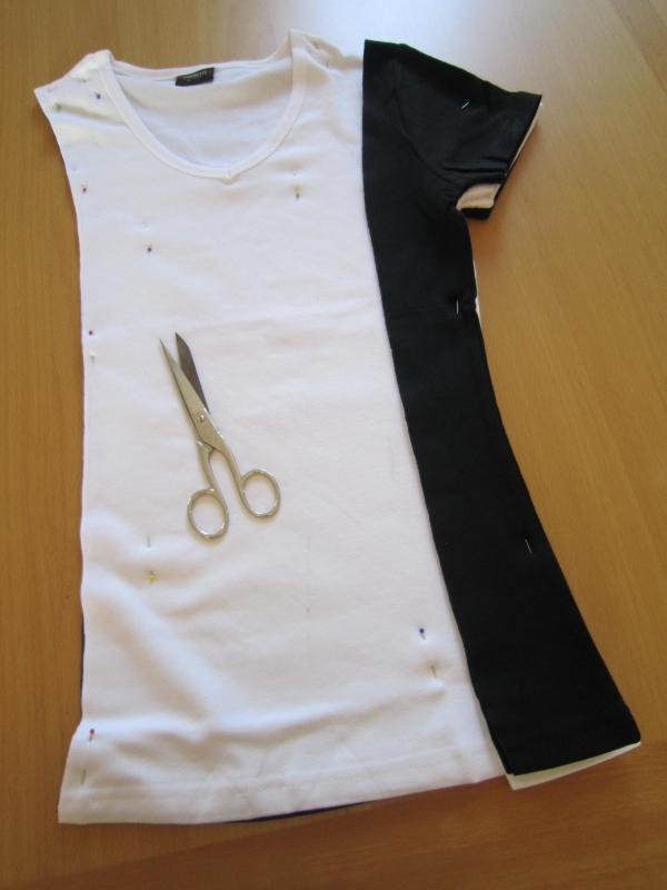 Сшить платье футболку