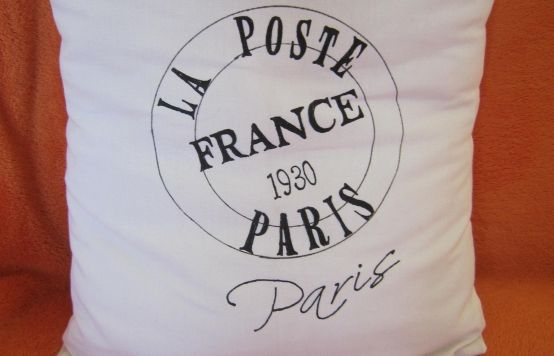 Malovaný polštář Paris