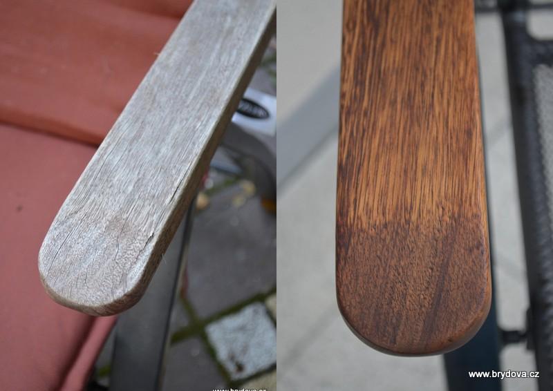 Renovace dřevných područek