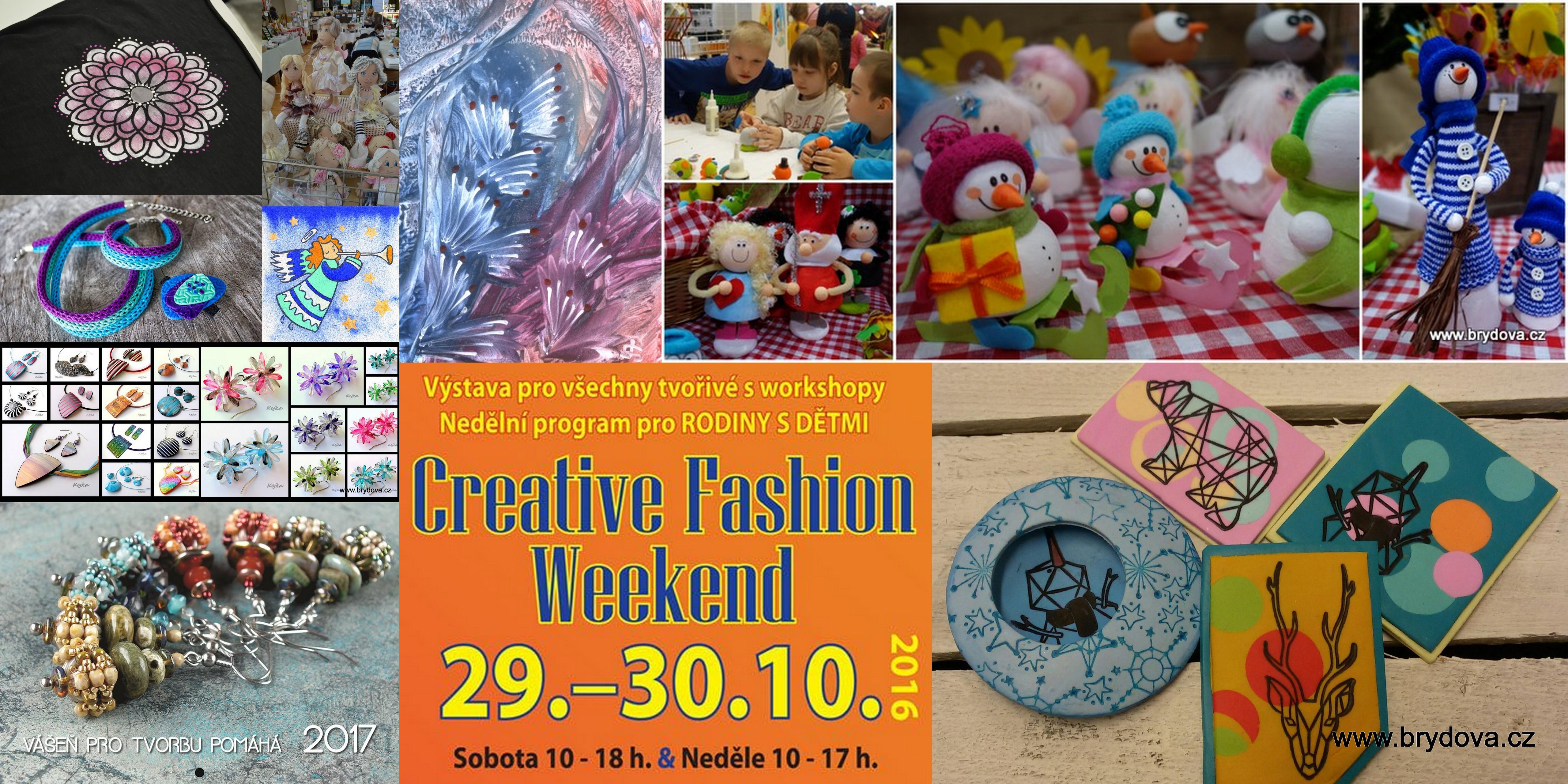 Vystavovatelé a workshopy na Creative Fashion Weekendu