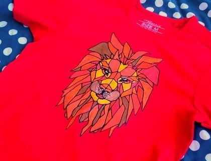 Triko se lvem – přenos obrázku na textil