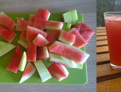 Šťáva z melounových slupek