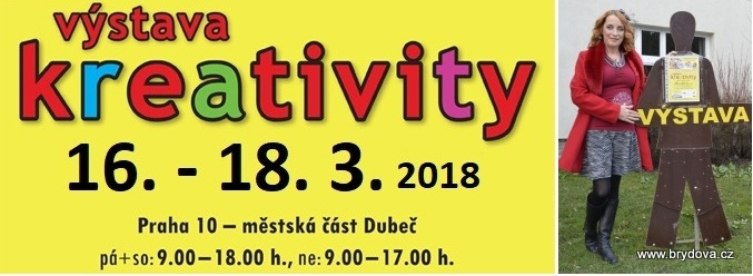 Program VÝSTAVY KREATIVITY – jaro 2018
